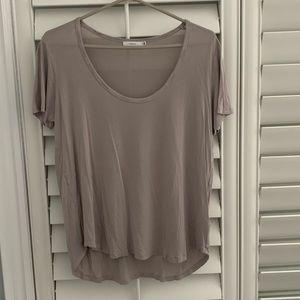 Talula Mauve Scoop Neck Tshirt